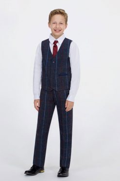 Kids Tweed Waistcoat