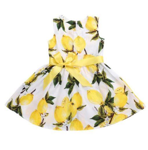Lemon Dress For Girls