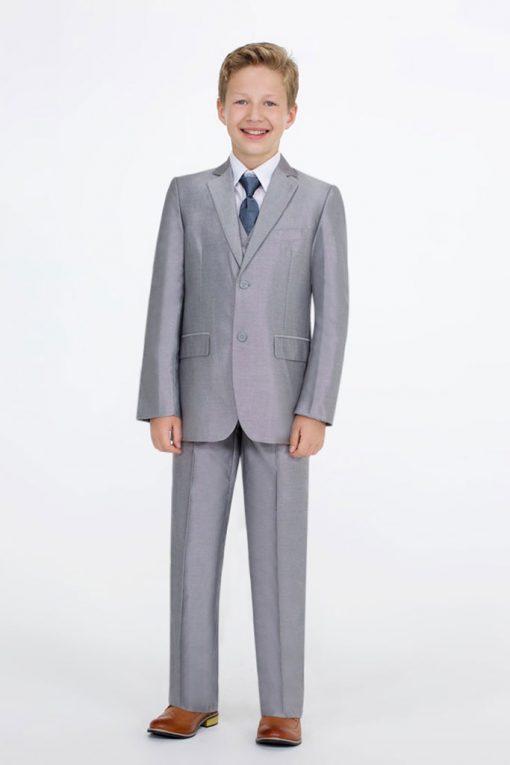 shiny grey suit yoyokiddies