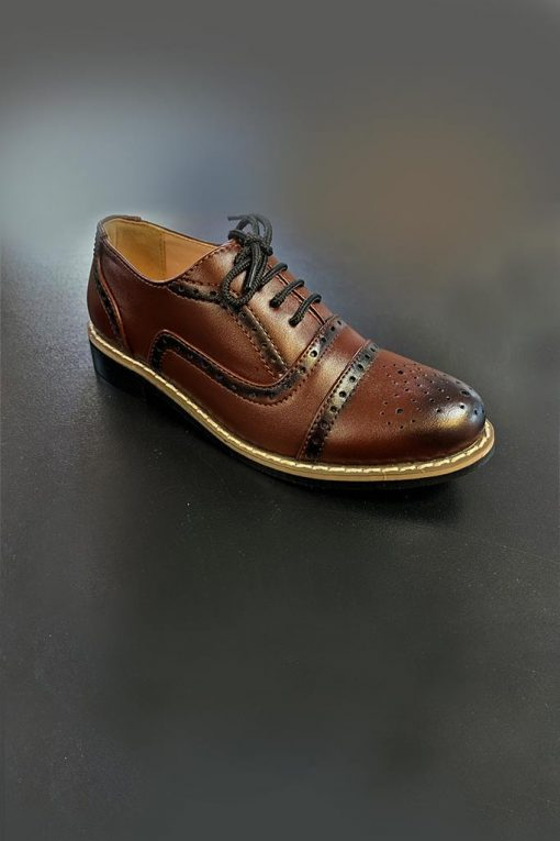 brown oxford boys shoe
