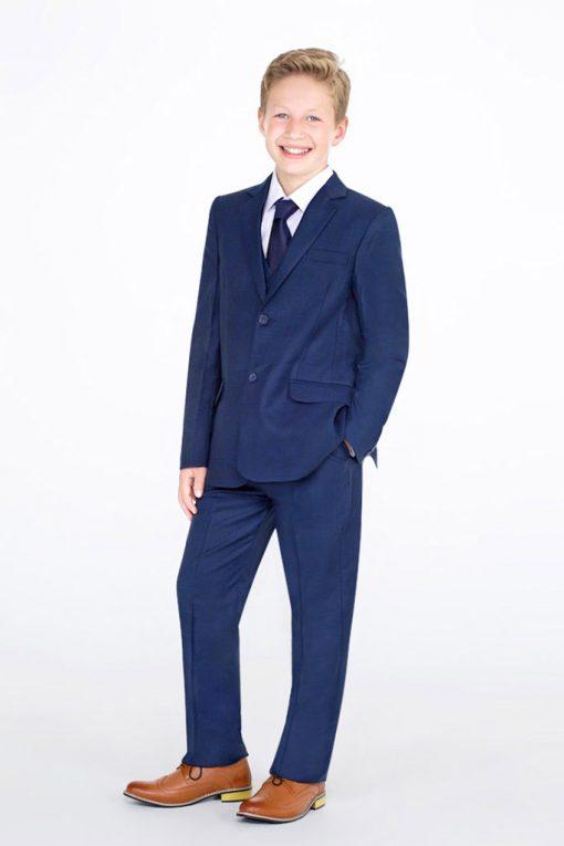 blue check suit boys