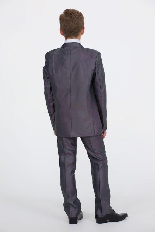 Boys Shiny Grey Suit