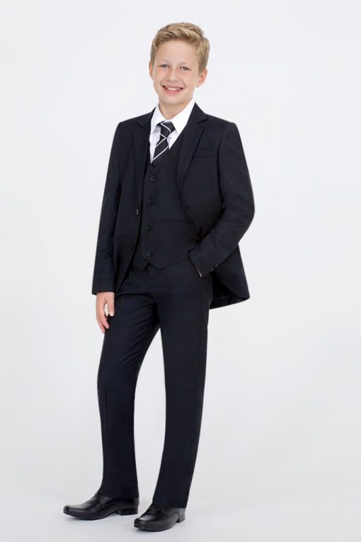 kids black suit