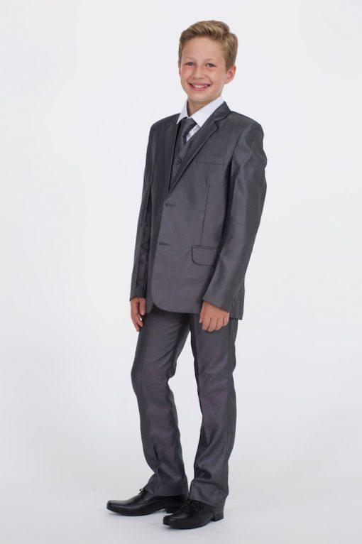Boys Shiny Grey Suits