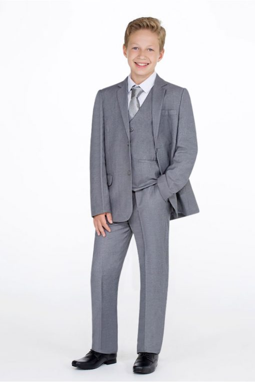 elegant grey suit for boys