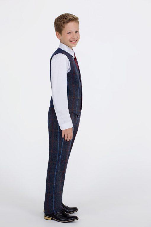 boys Tweed Waistcoat Check