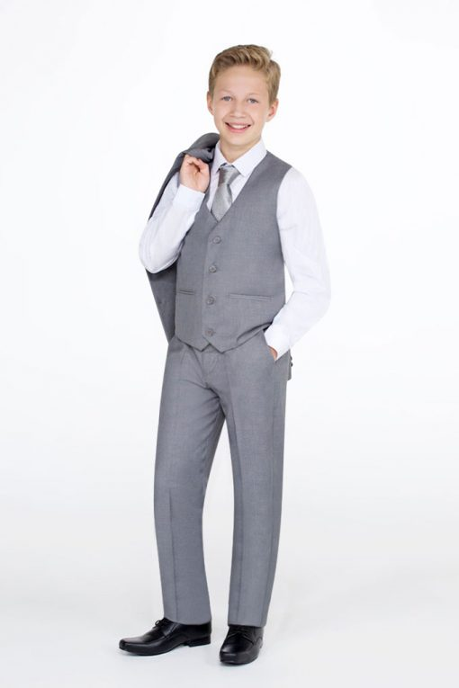 light grey suit for boys