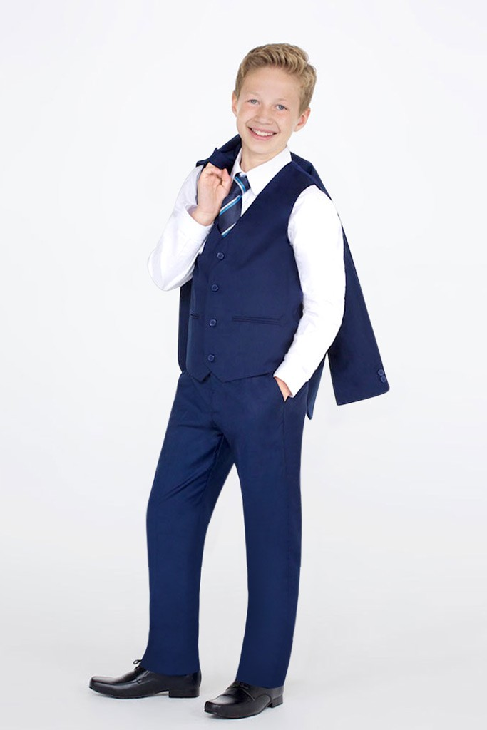 4-Piece Boys Black /& Purple Suit 0-3 months to 14-15 years